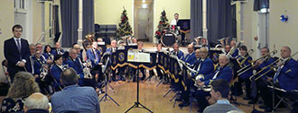 Beverley Brass Band at Welton Vilage Hall December 2012